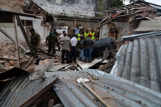 A view of blast site near the Dehiwala zoo, near Colombo, Sri Lanka, on April 21,
