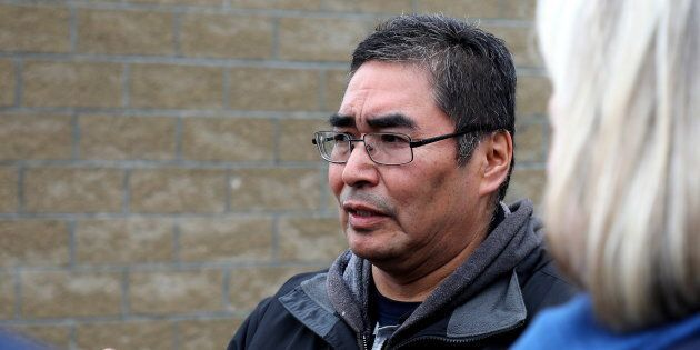 Rudy Turtle, chief of the Grassy Narrows First Nation in northwestern Ontario, is seen here on the reserve...
