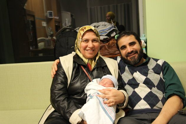 Yasser and his wife Safaa are pictured with their youngest