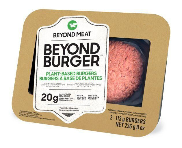 The Beyond Burger will be available in Canadian grocery stores by the end of