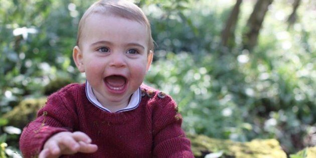 Kensington Palace released news photos of Prince Louis before his first birthday.