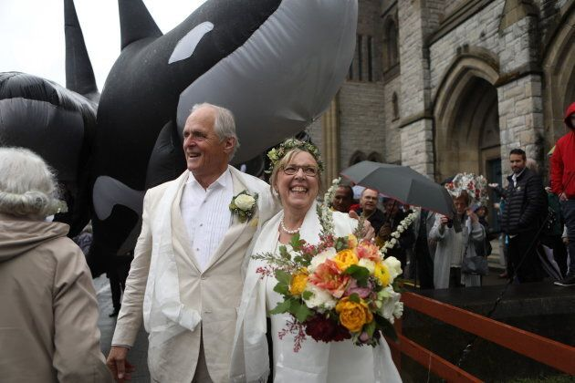 May and Kidder at the Christ Church Cathedral in Victoria, B.C., on April 22,