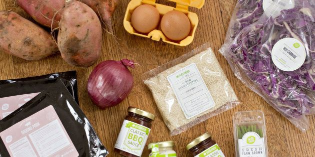 Ingredients from a HelloFresh delivery meal kit. A new study from the University of Michigan found that...