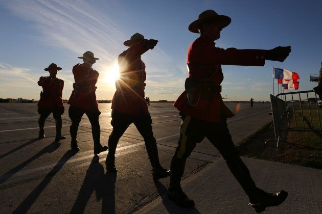 RCMP officers march in Ottawa in