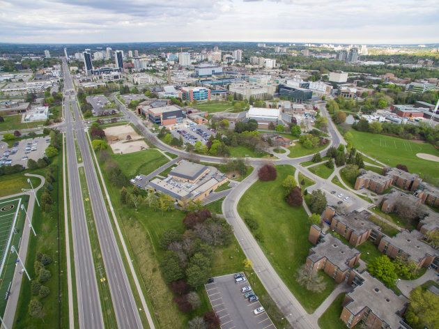 View of the University of Waterloo campus.