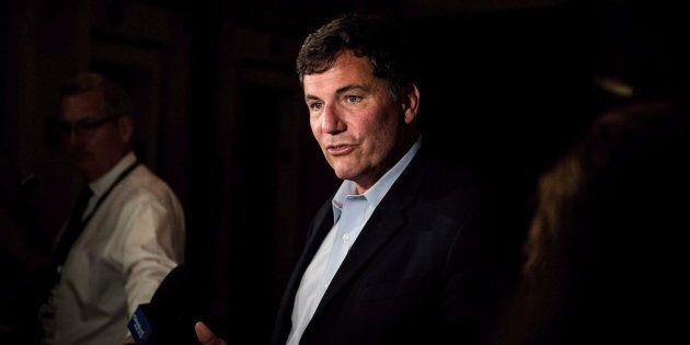 Intergovernmental Affairs Minister Dominic LeBlanc addresses the media in Saskatoon, Sask., on Sept....