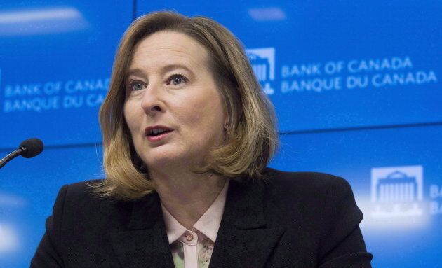 Bank of Canada senior deputy governor Carolyn Wilkins at a news conference in Ottawa on Jan. 17,