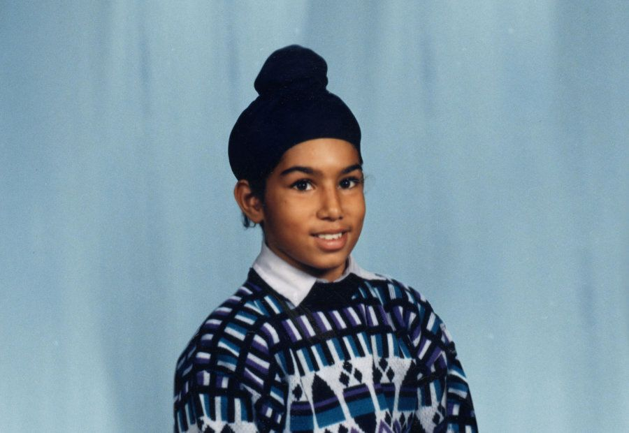 A young Jagmeet Singh poses for a school photo in this undated