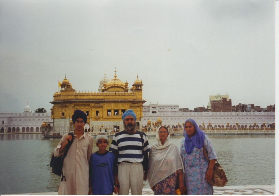 Jagmeet Singh (left) poses with his family in this undated