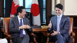 Trudeau, Japanese PM Celebrate Trade Gains Without