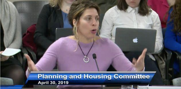 Leilani Farha, of the United Nations at City of Toronto's Planning and Housing Committee April 30,