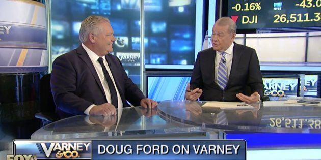 Ontario Premier Doug Ford appears on Fox Business