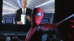 スパイダーマンが機内ビデオで暴れまくる!ユナイテッド航空の新しい機内説明が公開に