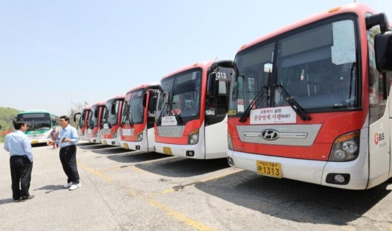 경기도 일반버스 요금은 200원, 직행좌석버스는 400원이