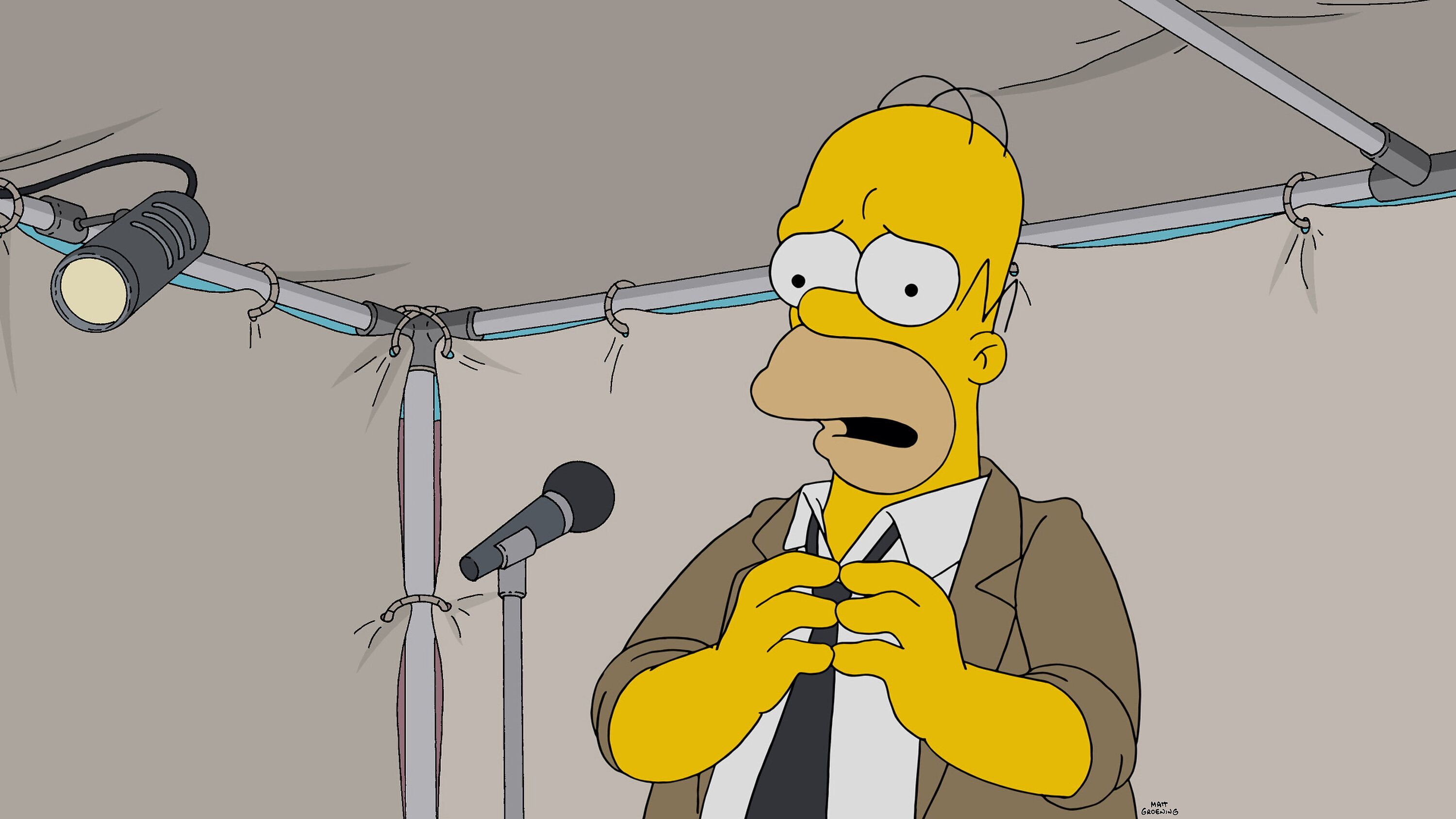 THE SIMPSONS:  Homer turns to improv comedy to gain back his confidence in the Simprovised episode of THE SIMPSONS airing Sunday, May 15 (8:00-8:30 PM ET/PT) on FOX.  (Photo by FOX via Getty Images)