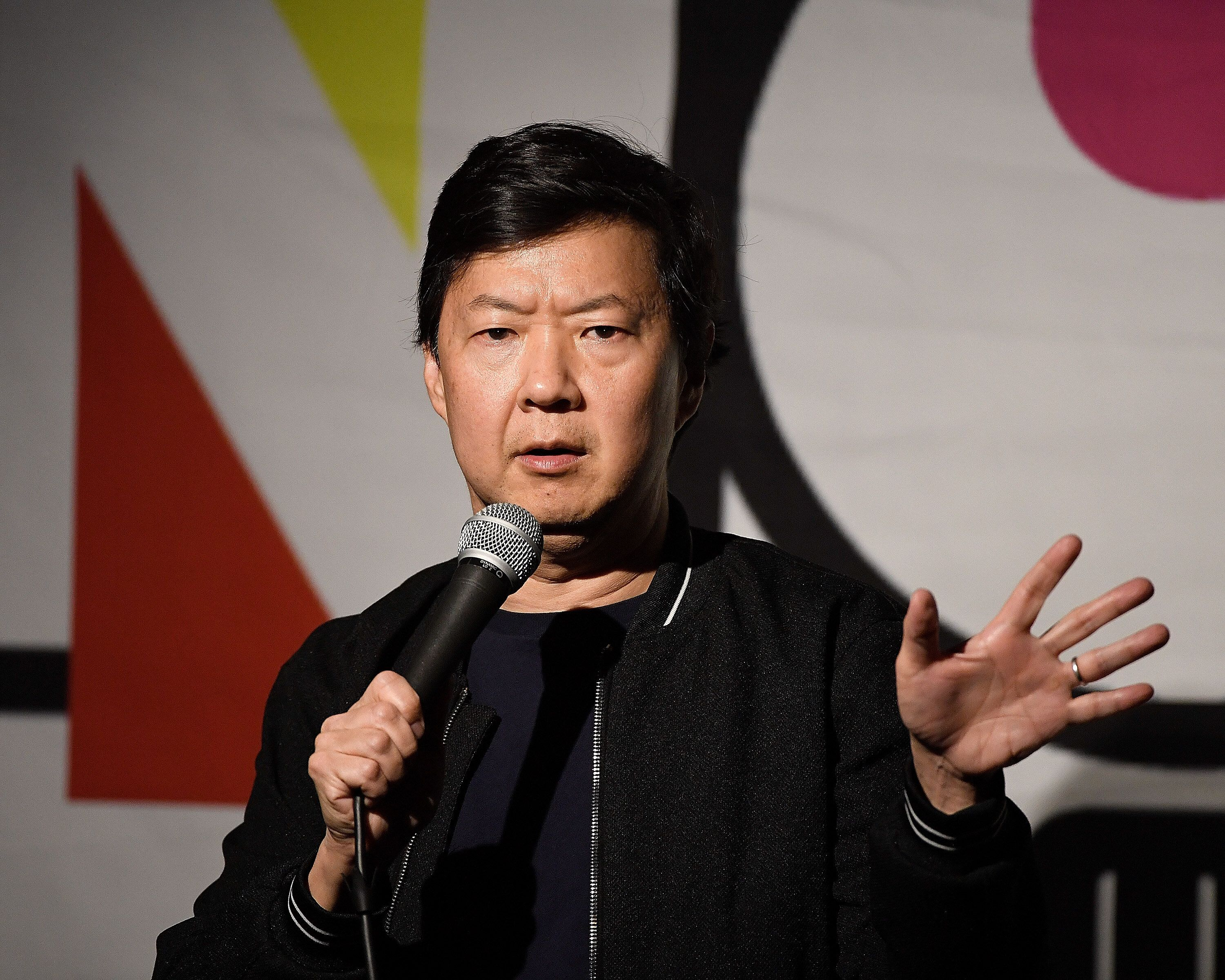 NORTH HOLLYWOOD, CA - MAY 02:  Comedian Ken Jeong performs during his appearance at the NoHo Comedy Festival at Ha Ha Cafe Comedy Club on May 2, 2019 in North Hollywood, California.  (Photo by Michael S. Schwartz/Getty Images)