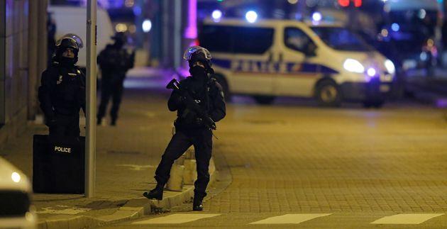 Les rues deStrasbourg après l'attentat du marché de Noël le 11 décembre