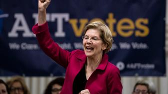 Democratic presidential candidate Sen. Elizabeth Warren, D-Mass., speaks during an American Federation of Teachers town hall event, at the Plumbers Local 690 Union Hall in Philadelphia, Monday, May 13, 2019. (AP Photo/Matt Rourke)