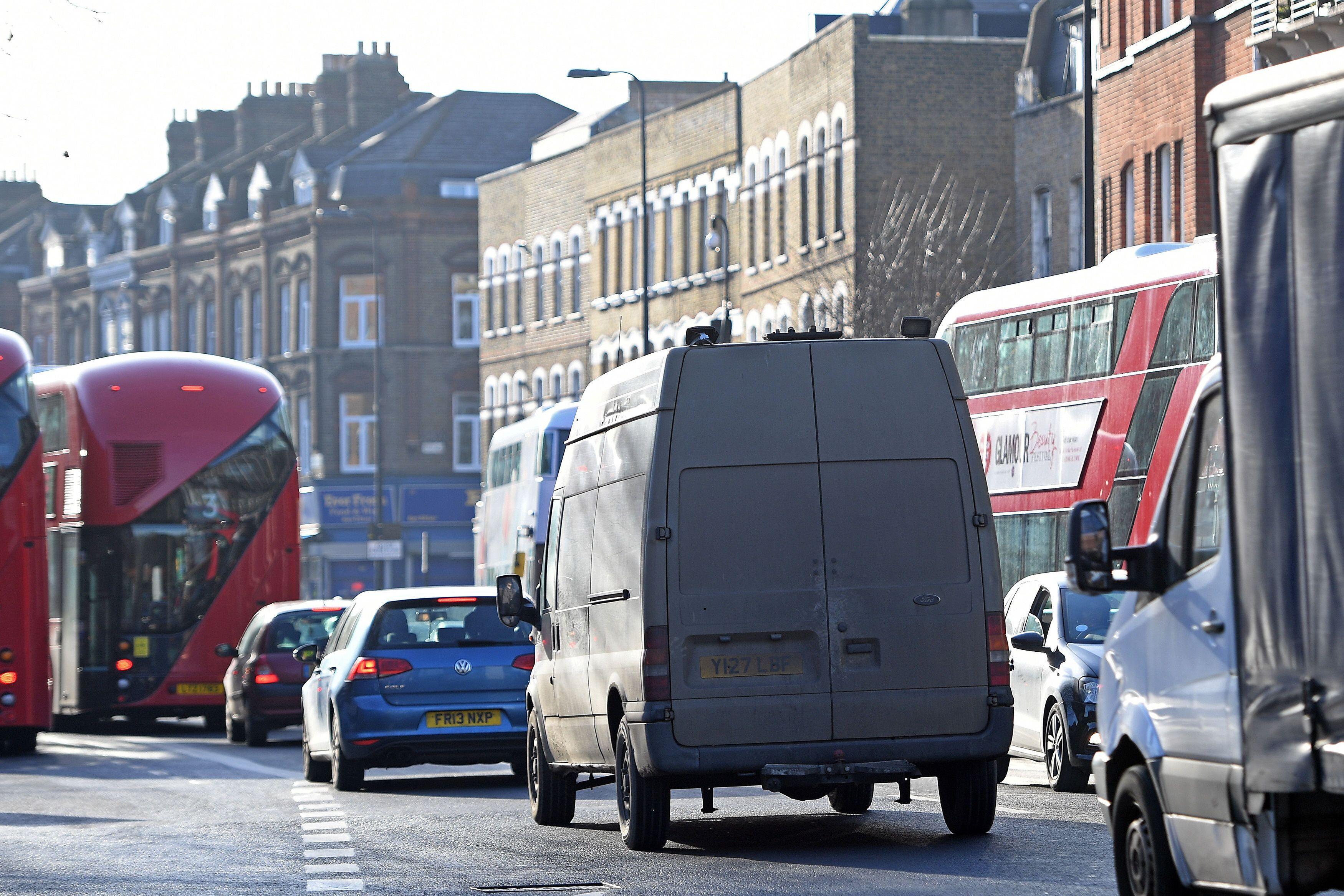 File photo dated 06/01/17 of traffic on Brixton Road in Lambeth, London, as mayors and city leaders are calling for a ??1.5 billion Government fund to take polluting vehicles off the UK's streets and improve air quality.