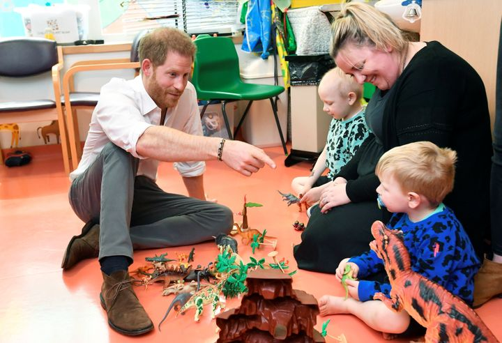 Prince Harry at theOxford Children's Hospital on May 14.