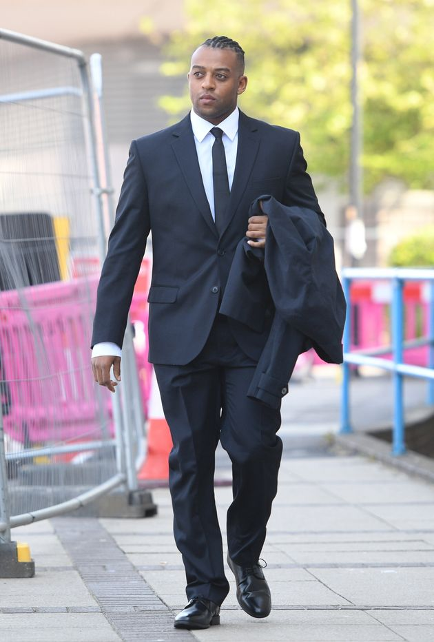 Oritse Williams arrives at court on