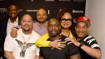 NEW YORK, NEW YORK - MAY 08: (L-R) Bill Keller, Yusef Salaam, Raymond Santana Jr., Kevin Richardson, Antron McCray, Ava DuVernay, and Korey Wise at the 2019 Town & Country Philanthropy Summit Sponsored By Northern Trust, Memorial Sloan Kettering, Pomellato, And 1 Hotels & Baccarat Hotels on May 08, 2019 in New York City. (Photo by Bryan Bedder/Getty Images for Town & Country)