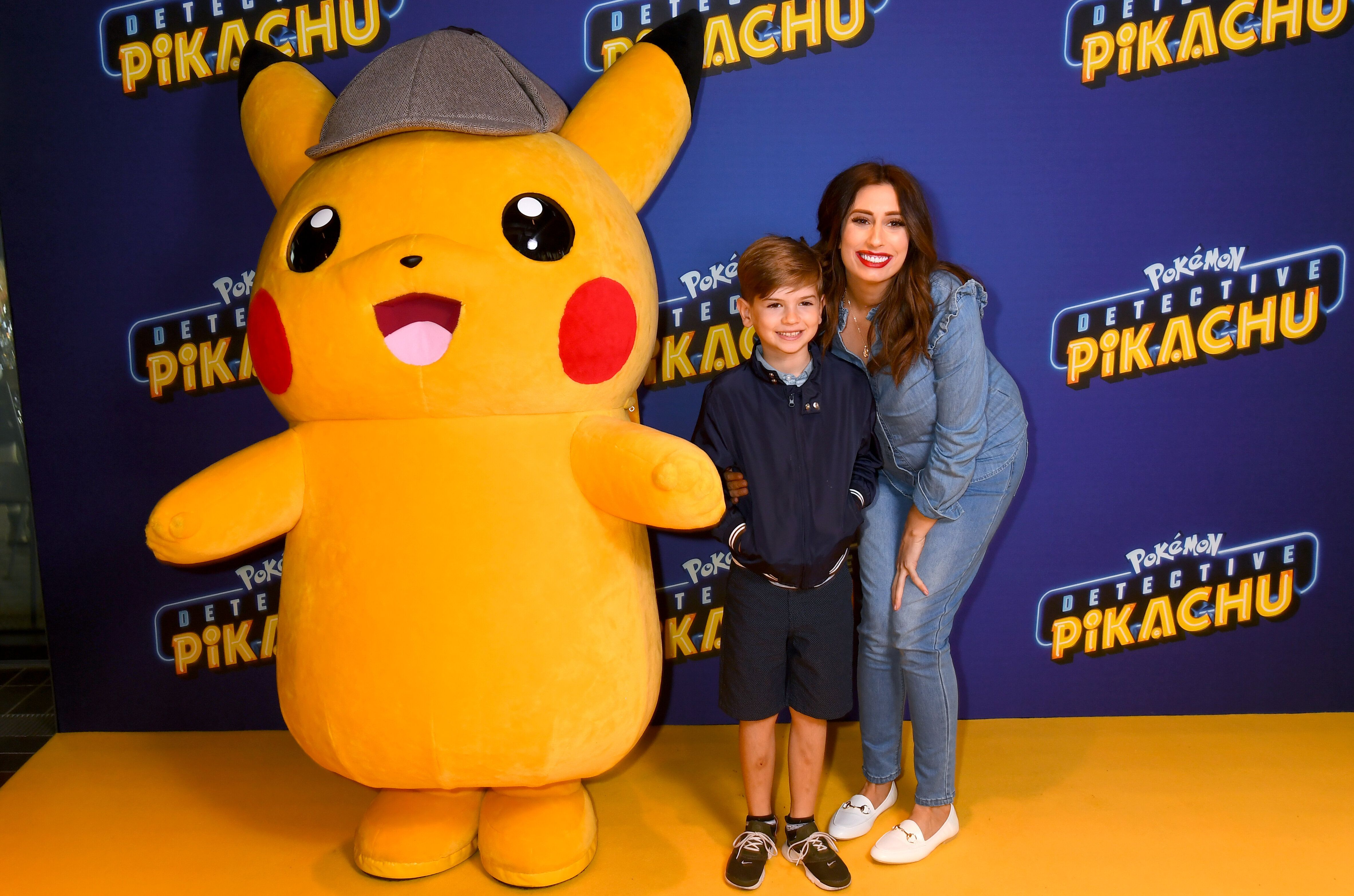 Stacey Solomon and son Leighton attends Fun In The Foyer Screening Of Detective Pikachu at BFI Southbank on April 27, 2019 in London, England. (Photo by Dave J Hogan/Getty Images for Warner Bros.)