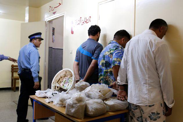 Saisie de 24 kilos de haschich au quartier Mers Sultan à Casablanca, le 28 juin