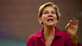 PHILADELPHIA, PA - MAY 13:  Democratic presidential hopeful, U.S. Sen. Elizabeth Warren (D-MA) holds a teacher's union townhall on May 13, 2019 in Philadelphia, Pennsylvania.  At the event hosted by the American Federation of Teachers, Warren spoke to about 200 educators, according to published reports. (Photo by Mark Makela/Getty Images)