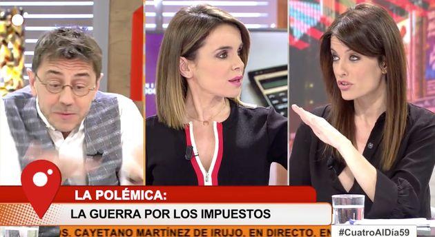 Encontronazo entre Monedero y Cristina Seguí en 'Cuatro al día':