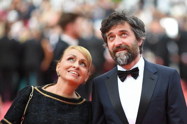 Rosalie Varda et Mathieu Demy, les enfants d'Agnès Varda lors de l'ouverture du 72e Festival de...