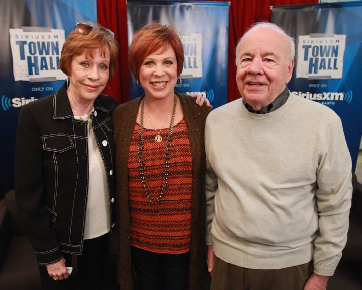 "Carol Burnett, Vicki Lawrence and Tim Conway attend ""SiriusXM's Town Hall with Carol Burnett"" on Sept. 26, 2012, in New York"