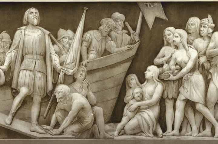 """""""Landing of Columbus."""""""