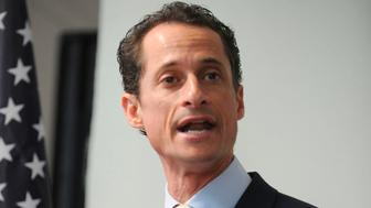 "***FILE PHOTO*** Anthony Weiner Out Of Prison Early After Pleading Guilty to Sexting 15 Year Old NEW YORK, NY - JUNE 16: Anthony Weiner speaks to the media during a news conference . Seared by scandal, New York Rep. Anthony Weiner announced his resignation from Congress on Thursday, done in by lewd photos he took of himself, sent to women online and then adamantly lied about after being caught. ""I'm here today to again apologize for the personal mistakes I have made and the embarrassment I have caused,"" he said reading from a brief statement in Brooklyn. on June 16, 2011 in New York City People: Anthony Weiner Transmission Ref: MNC1 Hoo-Me.com / MediaPunch /IPX"