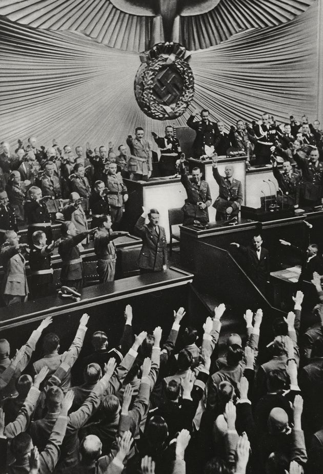 Adolf Hitler is saluted by the Reichstag in Berlin, Germany, now long before the start of World War