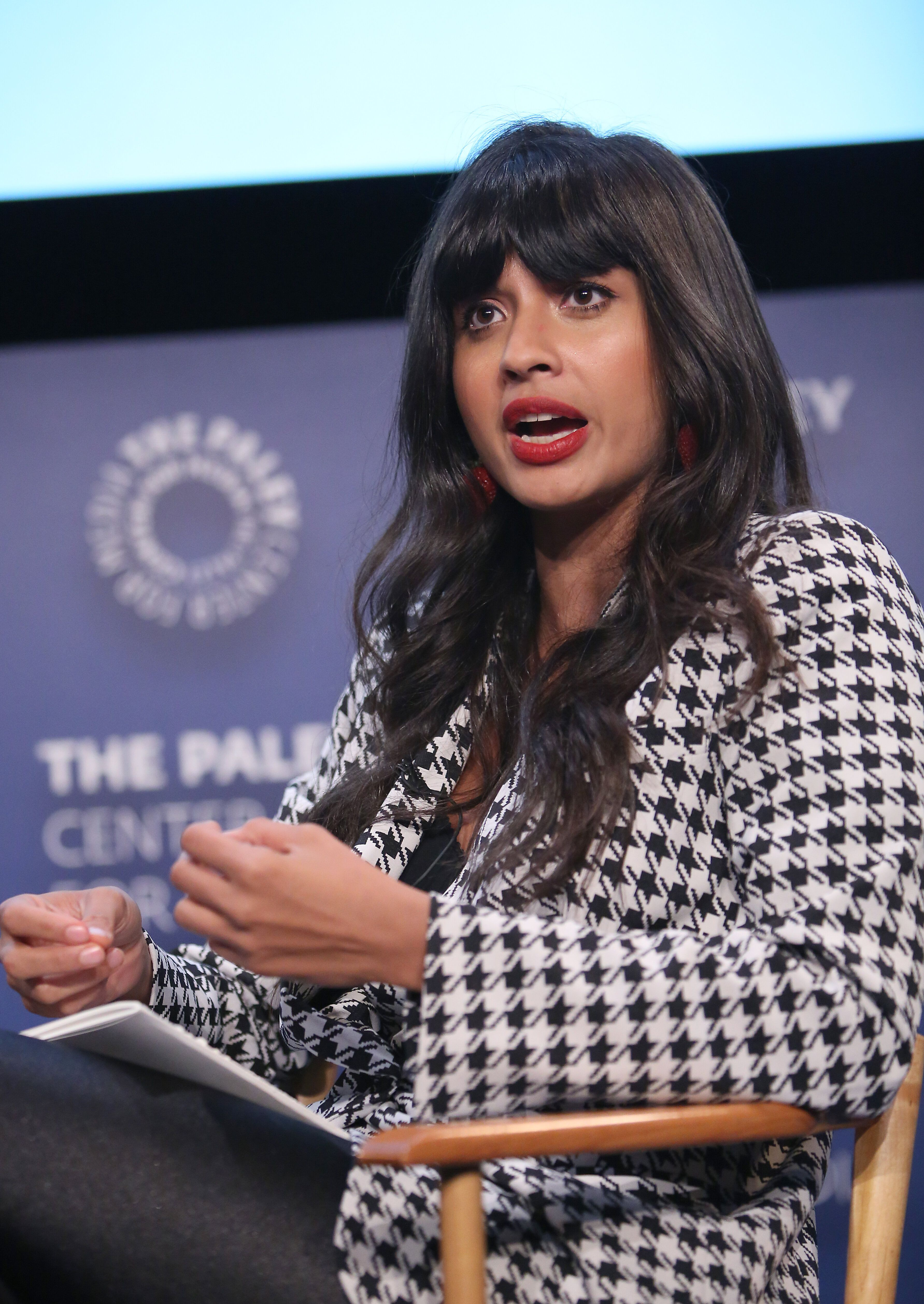 "BEVERLY HILLS, CALIFORNIA - MAY 10: Jameela Jamil, actress, activist, founder of I_Weigh attends  the ""VICE"" on HBO Emmy FYC Event on May 10, 2019 in Beverly Hills, California. (Photo by Jesse Grant/Getty Images for VICE News )"