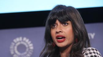 """BEVERLY HILLS, CALIFORNIA - MAY 10: Jameela Jamil, actress, activist, founder of I_Weigh attends  the """"VICE"""" on HBO Emmy FYC Event on May 10, 2019 in Beverly Hills, California. (Photo by Jesse Grant/Getty Images for VICE News )"""