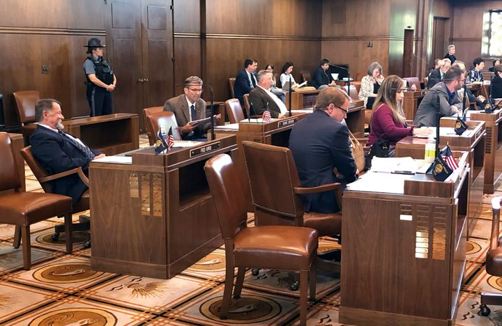 Enough Republican state senators returned to the Oregon Senate in Salem on Monday, May 13, 2019, to end a standoff in its fif