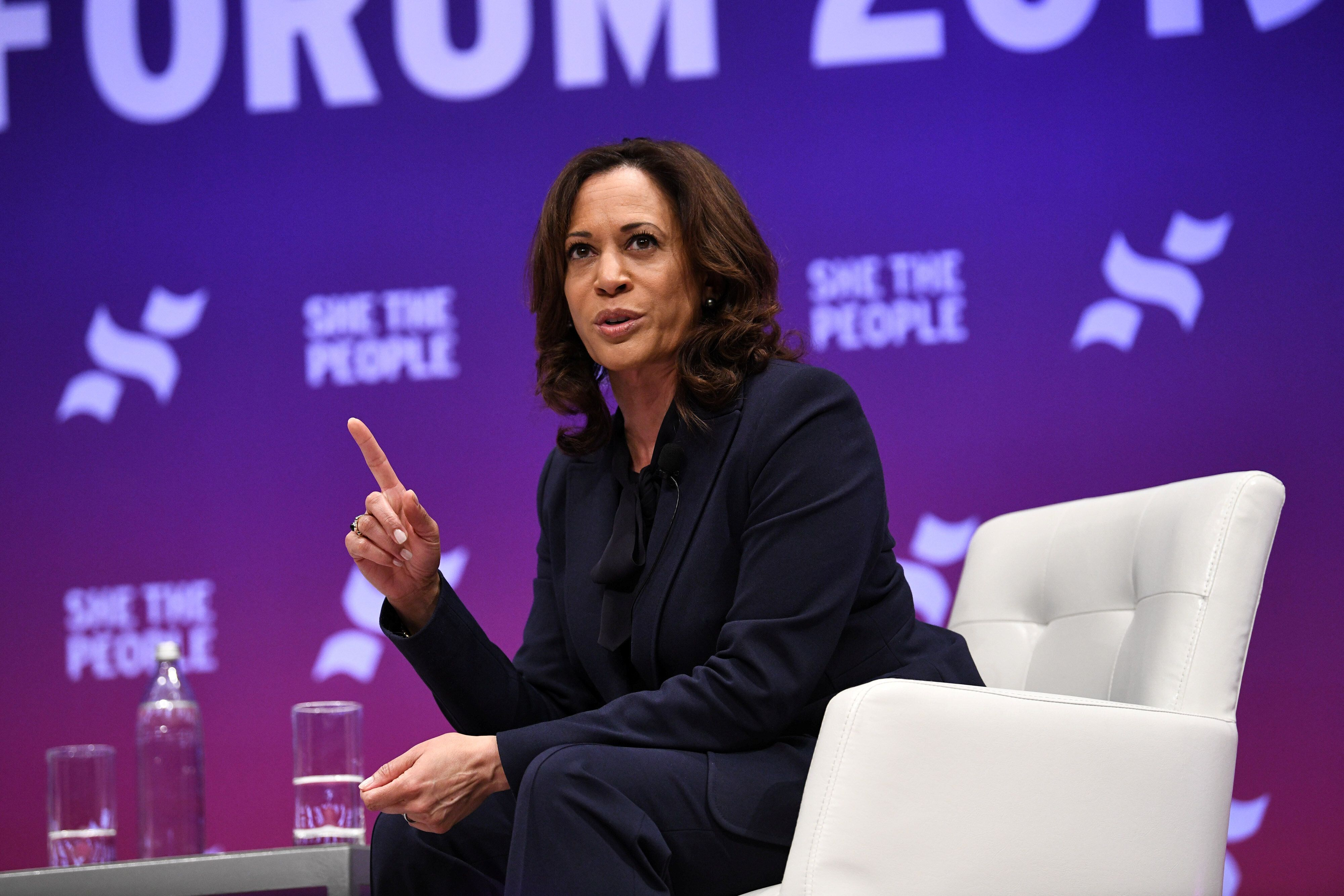 U.S. Democratic presidential candidate Kamala Harris participates in the She the People Presidential Forum in Houston, Texas, U.S. April 24, 2019.  REUTERS/Loren Elliott