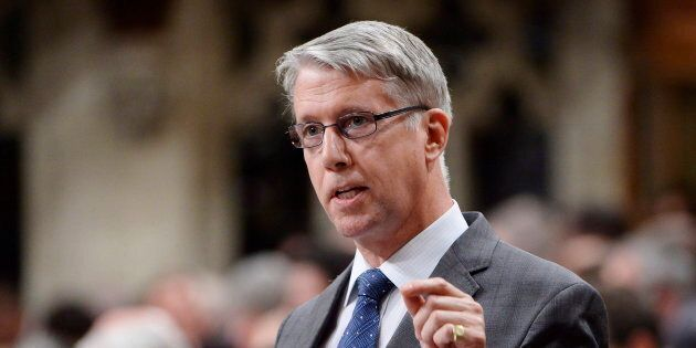 Andrew Leslie rises during question period in the House of Commons on Parliament Hill in Ottawa on Sept. 27, 2018.