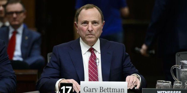 NHL Commissioner Gary Bettman appears before the Commons Subcommittee on Sports-Related Concussions on...