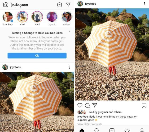 "Instagram is unrolling a test to change how users see ""likes"" on their photos and videos."