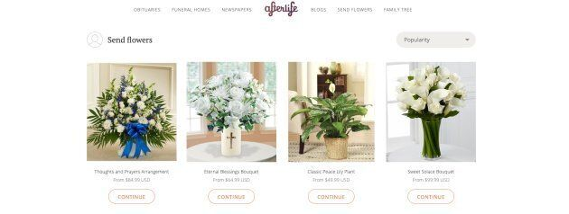 Users on Afterlife could pay to light virtual candles or send flowers to families of the