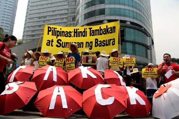 Protesters from an environmental group called Ecowaste Coalition had organized rallies against the garbage...
