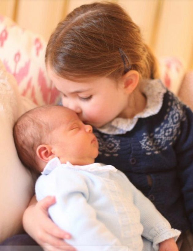 Princess Charlotte with her brother Prince Louis on her third birthday in a photo taken by the Duchess of Cambridge last May 2 at Kensington Palace.