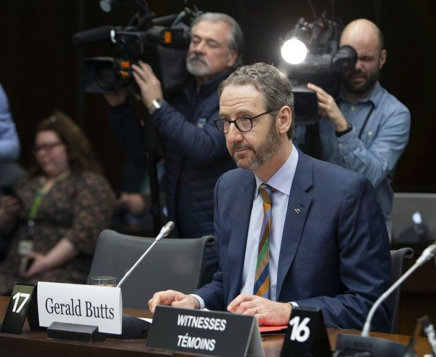 Gerald Butts, former principal secretary to Prime Minister Justin Trudeau, prepares to appear before the Standing Committee on Justice and Human Rights on Parliament Hill on March 6, 2019.