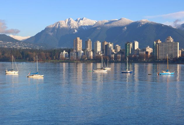 Apartments overlooking English Bay in Vancouver's West End.