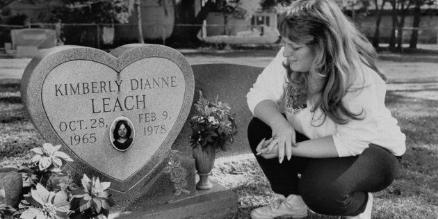 Lisa Williams visiting the grave of her best friend Kimberly Leach, the 12-year-old girl who was Ted...