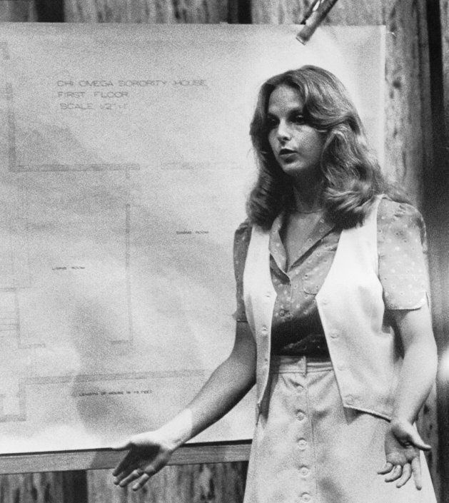 Nita Jane Neary, who lived at the Chi Omega sorority house at Florida State University, testifying at Ted Bundy's trial. She said she was positive that Bundy is the man she saw sneaking out of the house the morning two of her sorority sisters were slain.
