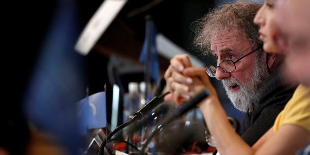 British scientist Robert Watson attends a news conference on the launching of a landmark report on the damage done by modern civilization to the natural world at the UNESCO headquarters in Paris, France on May 6, 2019.